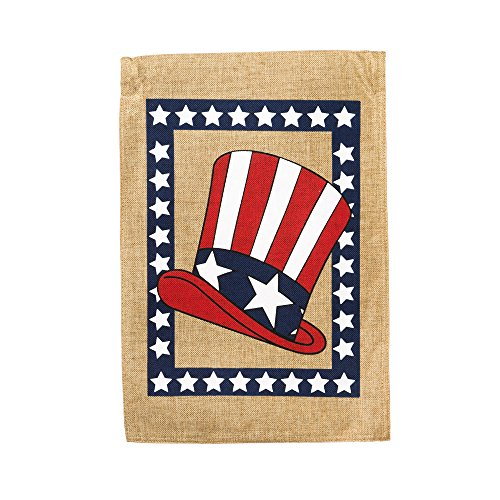 Evergreen Burlap Uncle Sam Hat Garden Flag, 12.5 x 18 inches Review