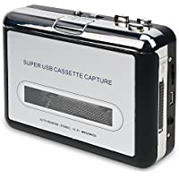 DigitNow! Cassette Tape To MP3 CD Converter Via USB,Portable USB Cassette Tape Player Captures MP3 Audio Music,Compatible With Laptop and Personal Computer,Convert Walkman Tape Cassette To MP3 Format