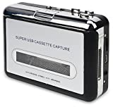 usb portable cassette player - DIGITNOW Cassette Player-Cassette Tape To MP3 CD Converter Via USB,Portable Cassette Tape Converter Captures MP3 Audio Music,Convert Walkman Tape Cassette To MP3 Format, Compatible With Laptop and PC