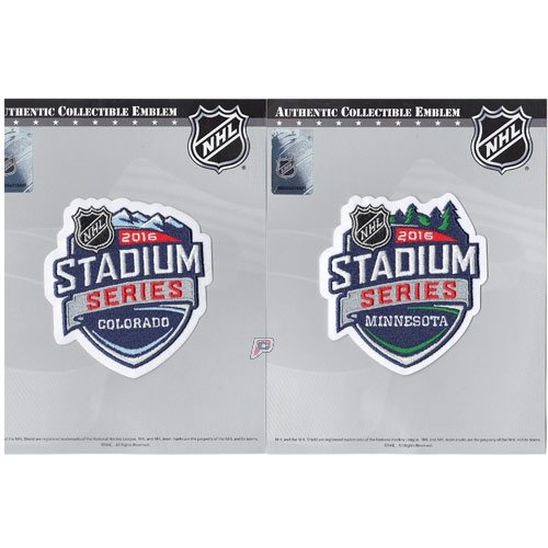 2016 Nhl Stadium Series Game Logo Jersey Patch Colorado At Coors Field Foxboro   Minnesota At Tcf Bank Stadium Combo