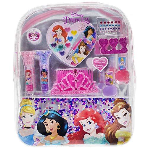 Townley Girl Disney Princess Cosmetic Backpack, 10 Pcs