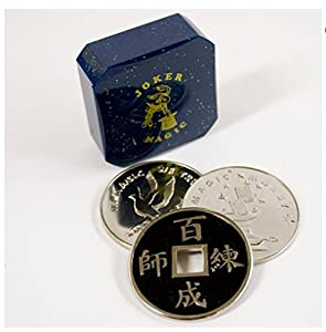Joker Magic Chinese Coin & Silver Coin Transpo Trick