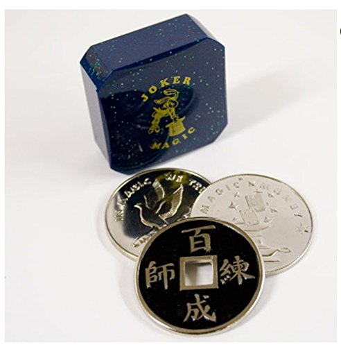 Joker Magic Chinese Coin & Silver Coin Transpo Trick by Joker Magic