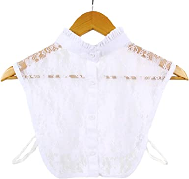 Cuello Falso Blanco, Media Camisa Desmontable con Estilo Desmontable Blusa Dickey Collar para Dama (Blanco): Amazon.es: Ropa y accesorios