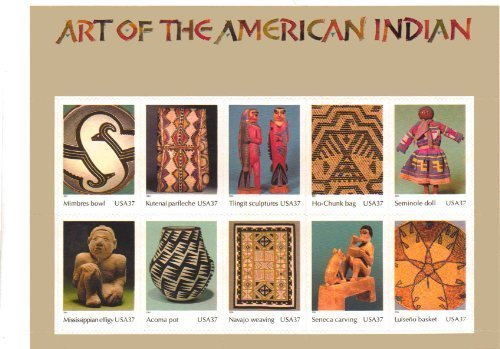 Art of the American Indian, Full Pane of 10 x 37-Cent Postage Stamps, USA 2004, Scott 3873 from USPS