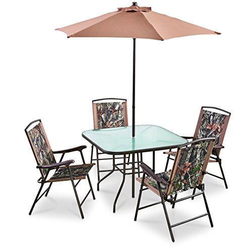 CASTLECREEK Complete Camo Patio Dining Set 6 Pieces