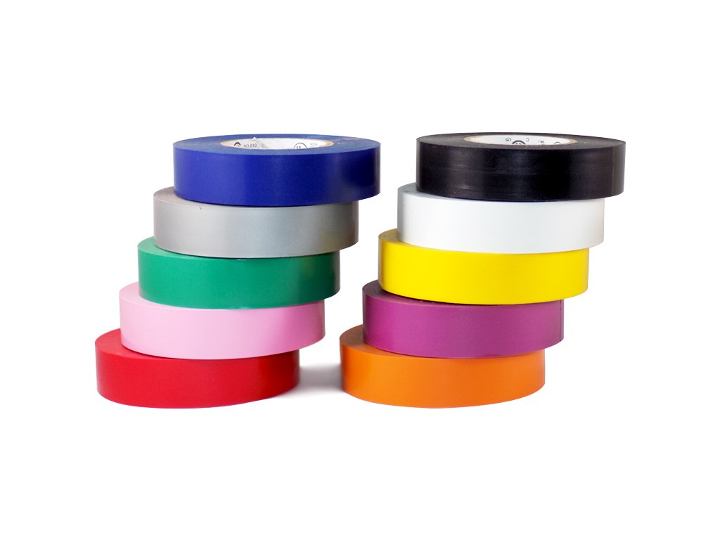 Tape Brothers  Electrical Tape UL/CSA Several Colors, 3/4'' x 66',  10 Color Pack