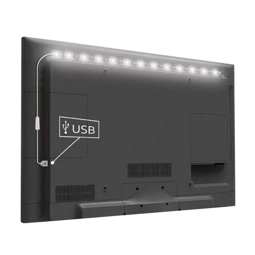 YAliDa 2019 clearance sale 5V 5050 60SMD/M RGB LED Strip Light Bar TV Back Lighting Kit+USB Remote Control (Black-a, LED)