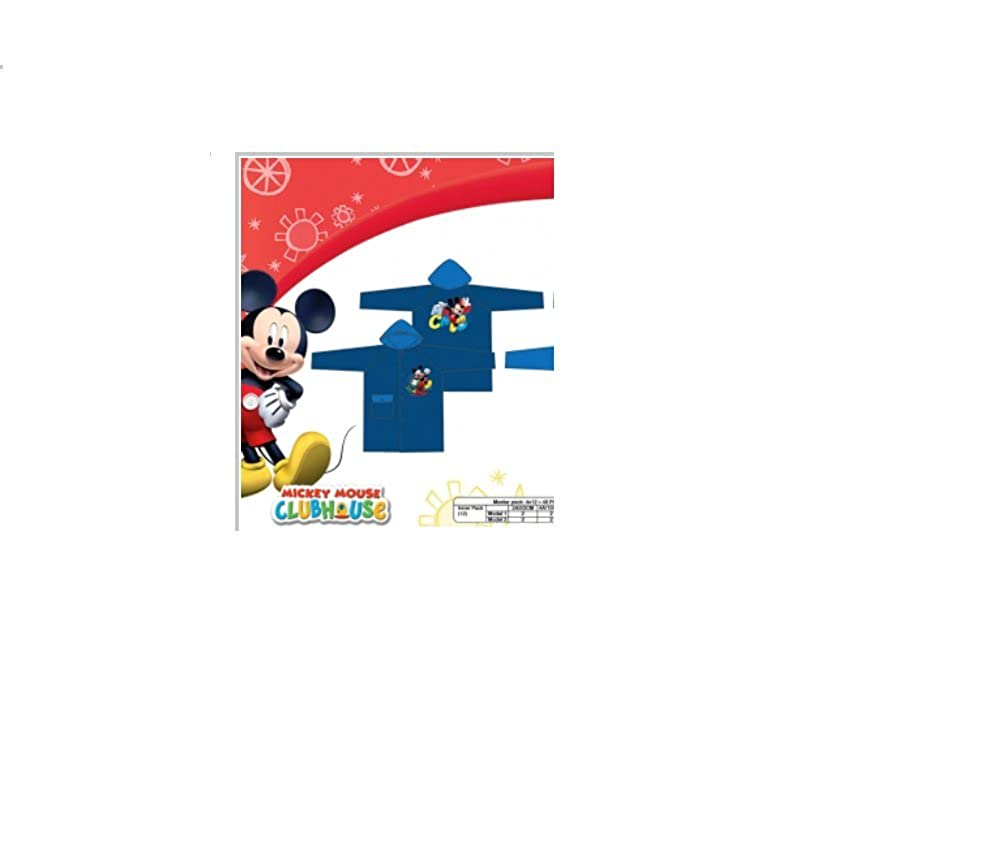 Disney Mickey Mouse Light Blue/Dark Blue 4 Years 100% PVC Raincoat