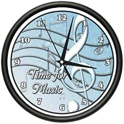 MUSIC TEACHER Wall clock musical instrument sing gift