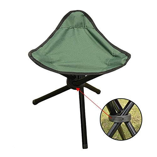 Mini Camping Stool, Lightweight Camp Stool, Portable Folding Camp Green Fishing Chair, 11.4 x 15.7 inch Foldable Outdoor BBQ Chairs for Travel, Camping, Hiking,Beach