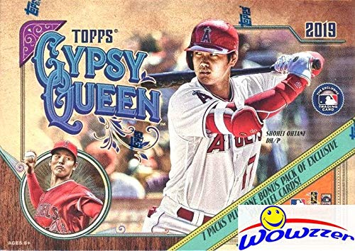 2019 Topps Gypsy Queen MLB Baseball Factory Sealed Retail Box with EXCLUSIVE PARALLELS! Look for Autographs, Memorabilia, Short Prints, Parallels, Inserts, Mini Cards & Much More! WOWZZER!