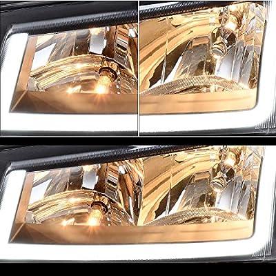 AUTOSAVER88 For 2003 2004 2005 2006 Chevy Avalanche Silverado 1500 2500 3500/2007 Chevrolet Silverado Classic Pickup Headlight Assembly Headlamp,Black Housing with Turn Signal Bumper Lamp: Automotive