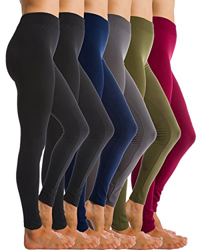 6-pack-fleece-lined-thick-brushed-leggings-thights-by-homma-s-m-l-black-x2-olive-burgundy-navy-grey