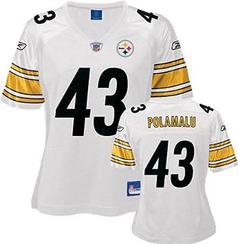 05b008cc5 Troy Polamalu White Reebok Replica Pittsburgh Steelers Women s Jersey -  XX-Large
