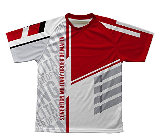 (ScudoPro Sovereign Military Order of Malta Technical T-Shirt for Men and Women - Size 4XL)