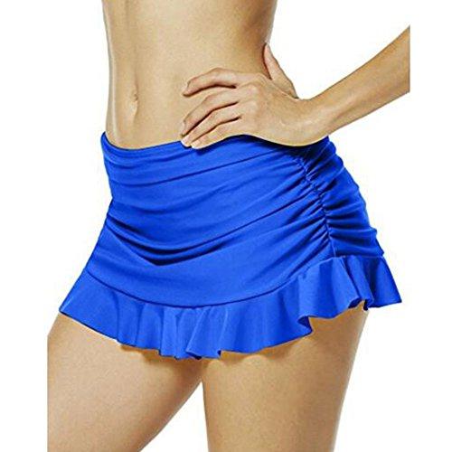 Teemaker o cuello algodón de las mujeres T Shirt–Mono Azul