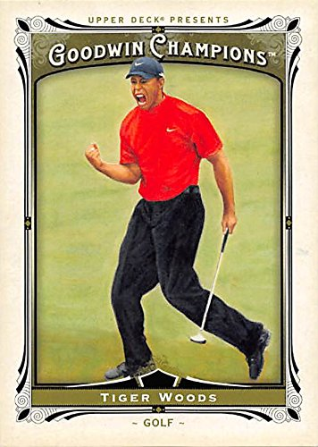 Tiger Woods Autographed Card - Tiger Woods trading card (Golfer) 2013 Upper Deck Goodwin Champions #143