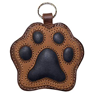Hide & Drink, Dog Paw Leather Keychain/Coin Pouch/Key Rings/Puppy/Doggie Lover/Accessories, Handmade Includes 101 Year Warranty :: Multicolor Brown