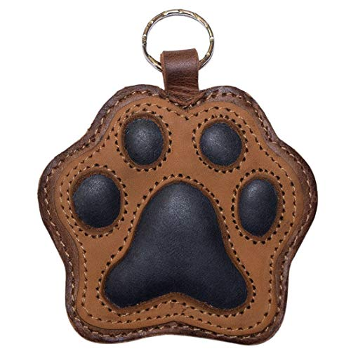 Leather Dog Keychains - Hide & Drink, Dog Paw Leather Keychain/Coin Pouch/Key Rings/Puppy/Doggie Lover/Accessories, Handmade Includes 101 Year Warranty :: Multicolor Brown