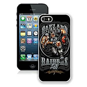 iPhone 5s Oakland Raiders(3) White Screen Cover Case Fashion and Durable Design