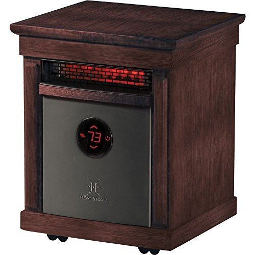 Heat Storm Richmond Indoor Portable Infrared Space Heater - Stylish - 1500 Watts - Remote Control by Heat Storm