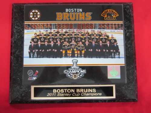 (Boston Bruins 2011 Stanley Cup Champions Engraved Collector Plaque w/8x10 TEAM Photo)