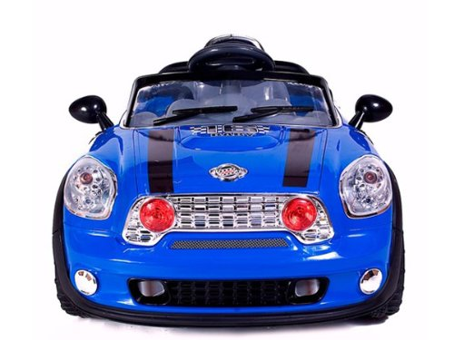 Ride On Car Electric Power Wheel Kids W/ MP3 Remote Control RC Blue Upgraded With 2 Motors & 6V 10Ah Battery