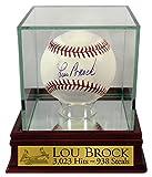 St. Louis Cardinals Lou Brock Autographed Official MLB Baseball (w/ Custom Case)