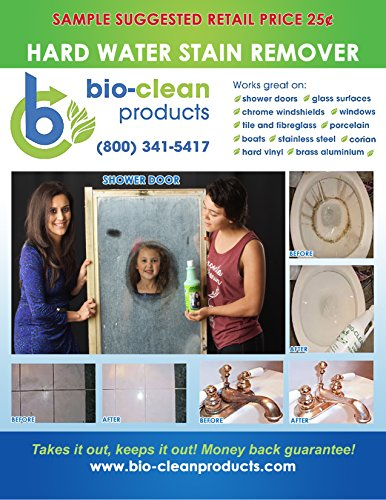 Bio Clean  Hard Water Spot Stain Remover  40Oz  For Showers Auto Glass Chrome Toilet Bowls Bbq Grills Stove Tops Concrete Patio Furniture Tile Grout And More Eco Friendly