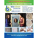 Bio Clean: Hard Water Spot Stain Remover (40oz) for SHOWERS auto glass chrome toilet bowls bbq grills stove tops concrete patio furniture tile grout and more ECO FRIENDLY