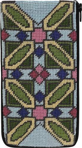 Stitch & Zip Eyeglass Case Needlepoint Kit- Frank Lloyd Wright Luxfer Prism