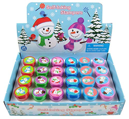 TINYMILLS 24 Pcs Snowman Stampers for -