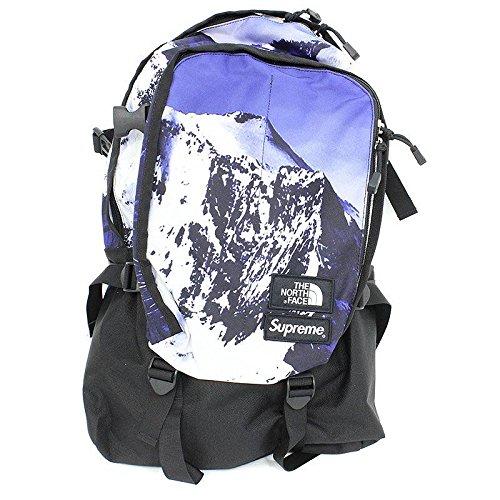 (シュプリーム) SUPREME ×ノースフェイス/THE NORTH FACE 【17AW】【The North Mountain Expedition Backpack】マウンテン柄ナイロンバックパック(ブルー調×ブラック) 中古 B07D6M89KZ