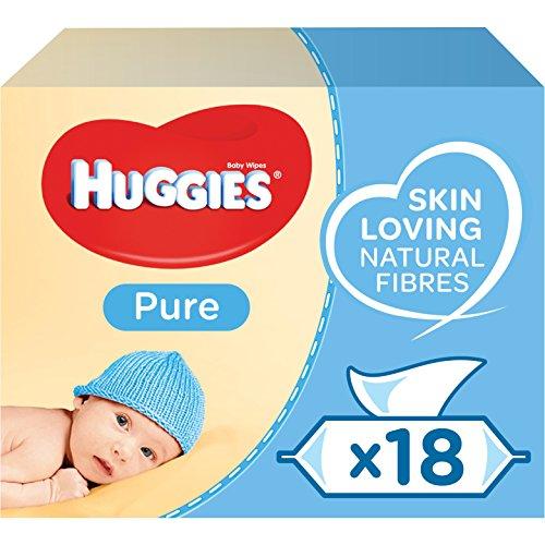 🥇 Huggies Pure Toallitas para Bebé – 18 paquetes de 56 unidades