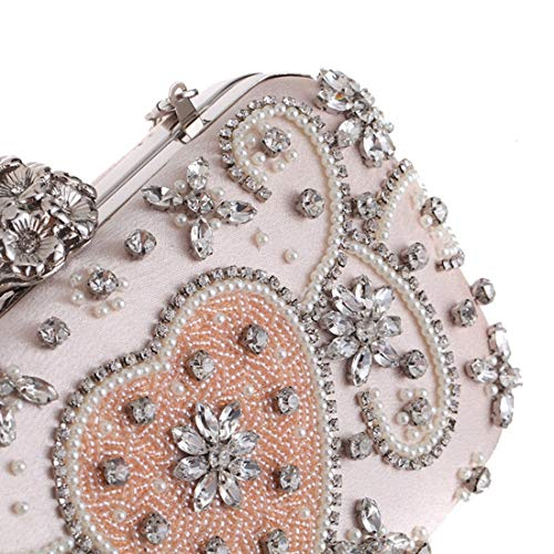 Tarde Pink Hombro Mujeres Embrague De Moldeado Ploekgda Del Diamante color Pink Las Bolso Rwx6Cq0Z
