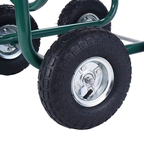 Anbeaut 300FT Garden Water Hose Reel Cart with Basket by Anbeaut (Image #4)
