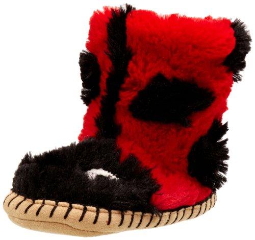 hatley Kids Slouch Slipper Unisex-Kinder Hausschuhe Rot (Ladybug)