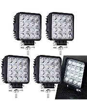 6 X 48W Quadrat LED Offroad Flutlicht Reflektor Scheinwerfer Arbeitslicht SUV, UTV, ATV Arbeitsscheinwerfer Zusatzscheinwerfer 12V 24V Rückfahrscheinwerfer