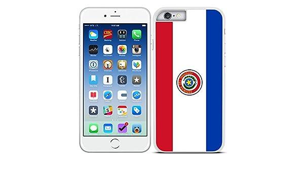 Funda carcasa para iPhone 6 6S diseño Bandera Paraguay borde blanco: Amazon.es: Electrónica