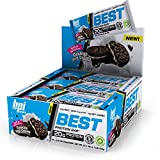 BPI Sports Best Protein Bar, Cookies/Cream, 12 Count - 20g Ideal Protein Mix