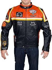 The Man Black Biker Real Leather Jacket - BNWT