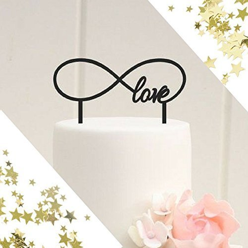 Infinity Love Anniversary Wedding Cake Topper Party Decoration Ideas