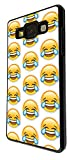 2084 - Cool Funny Emoji Collage LMFAO Crying With Laughter Design For Samsung Galaxy A5 A500M - 2015 Fashion Trend CASE Back COVER Plastic&Thin Metal - Black