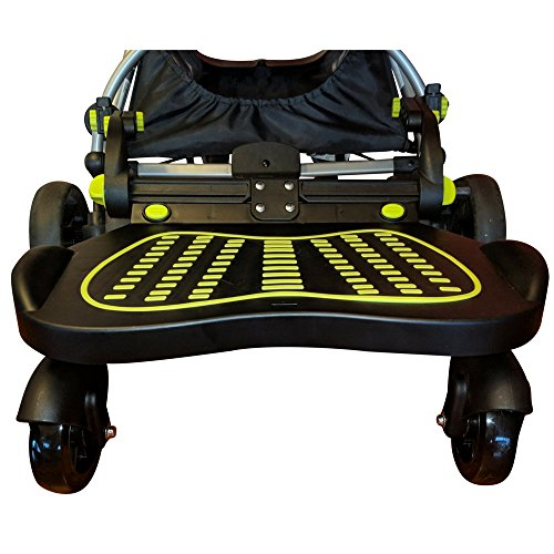 Stroller Glider Board For Kids Up To 70 LBS. This Universal Stroller Board Has An Unique Latching Setup That Allows You To Install The Glide Board Onto ANY Stroller in Minutes
