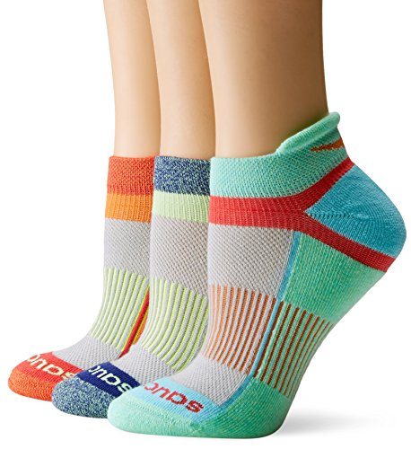 Saucony Women's Inferno Tab Socks, Grey Fashion , Medium/Shoe Size 7-10 (Pack of 3)