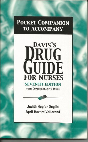 Pocket Companion to Accompany Davis's Drug Guide for Nurses: With Comprehensive Index, 7th