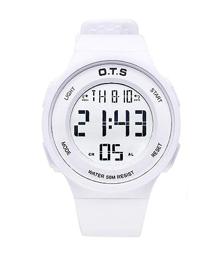 OTS - Reloj de Pulsera Electrónico Deportivo para Niño Niña Relojes Digital Gran Pantalla Luminoso para Estudiantes Jovenes Reloj Impermeable para Natación ...