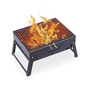 Mbuynow Grill Barbecue Carbone Griglia Barbecue per 4-6 Persone Cottura alla Brace Ottima Griglia Trasportabile per… 7 spesavip