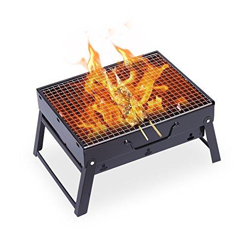 Uten barbecue portatile barbecue a carbonella da tavolo da campeggio per cuocere carne pesce - Barbecue portatile a carbonella ...
